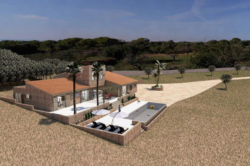Finca project S Horta views to Portocolom 15119
